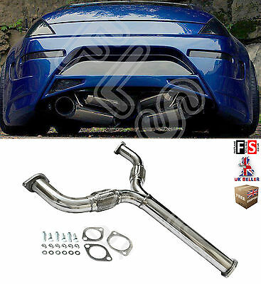 Nissan Stainless Steel Exhaust Y Pipe Decat Downpipe For 350Zs Z33 3.5L S