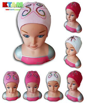 Baby Girl Cotton Soft Hat Cap for Spring/Autumn/Winter With Sequin Design 12-24m