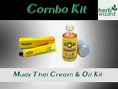 Namman Muay Thai Boxing Oil Liniment Muscular Pain 120cc Bottle PLUS 100g CREAM!