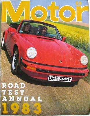 MOTOR Road Test Annual 1983 - FORD, VAUXHALL, BMW, LANCIA, SAAB, VOLKSWAGEN, etc