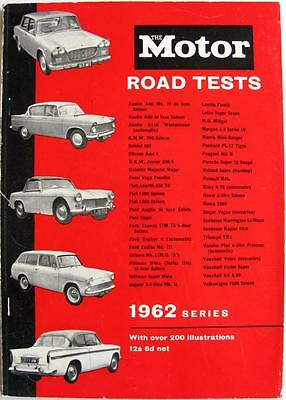 MOTOR Road Tests 1962 - FIAT, SUNBEAM, FORD, HILLMAN, VAUXHALL, etc