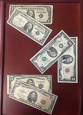 Old Paper Money Estate Lot with (6) Notes & Free Shipping