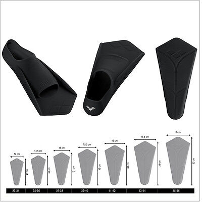 Arena Powerfin Swimming Fins Mezze Pinne Pinnette Nuoto Piscina Mare 9521851