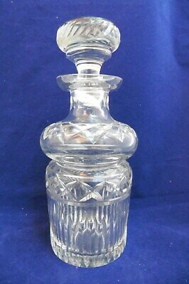 Antique/Vintage Crystal Hand Blown & Cut Glass Liquor Decanter