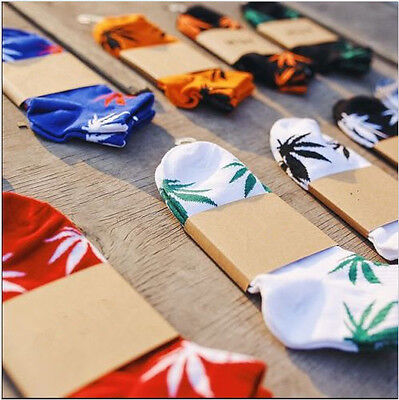 Fashion Women&Men Short Cotton Sport Weed Leaf Socks Ankle Sock Crew Cute Hot