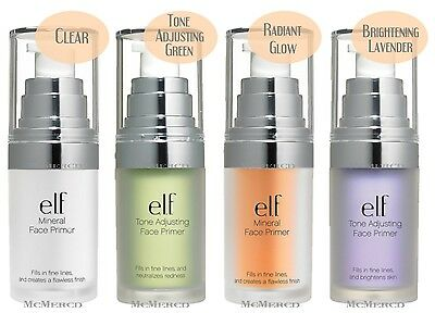 ELF Face Primer- Clear / Adjusting Green / Radiant Glow / Lavender