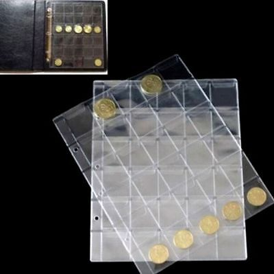 FD4740 Classic Coin Holder Sheet for Storage Collection Album 1 Page 30 Pocket✿