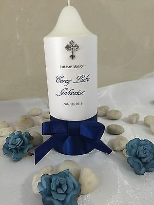 Personalised Christening/Baptism/Wedding Church Candles