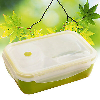 Leakproof Rectangular Lunch Bento Box,Microwave Food Container 4 spaces TOP