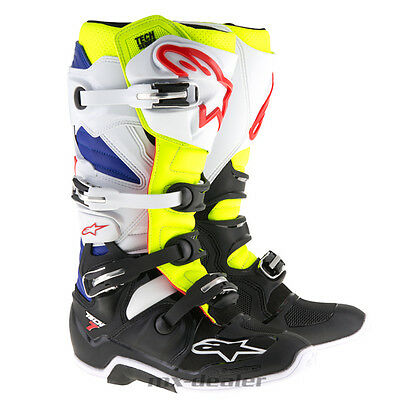 Alpinestars Tech7 Tech 7 Stiefel weiss neongelb mx motocross Enduro Cross boot