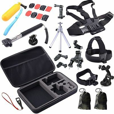 Pole Head Chest Mount Strap For GoPro Hero 3+ 4 Camera Accessories Set Kit