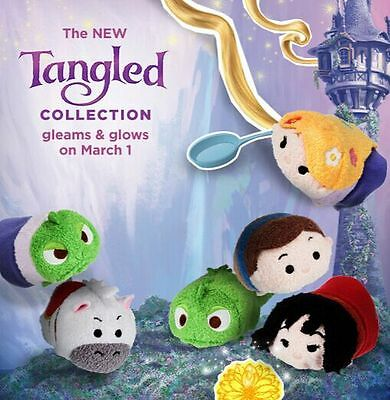 6 Styles Disney TSUM TSUM Tangled Rapunzel Plush Toys Stuffed Dolls With Chain