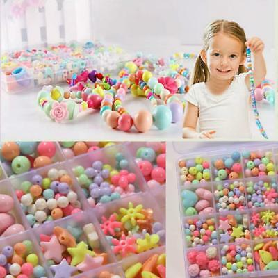 Mixed Color Beads For Child Crafts Educational Training With String Kids Toys FW