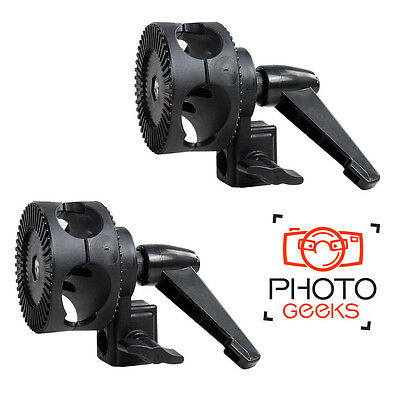2 x Boom Arm Wheel Clamp - Single Grip Bracket  Photo Studio Support Reflector