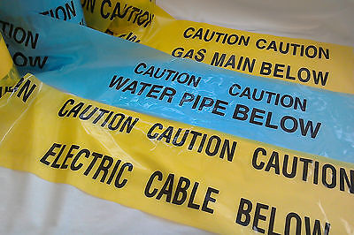 CAUTION Underground WARNING tape Electric Cable Water Pipe Gas Main