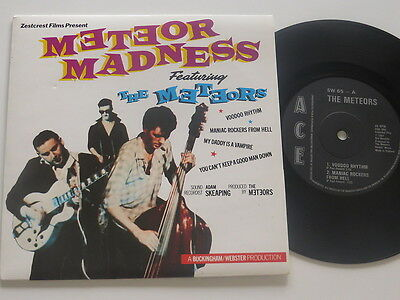 "THE METEORS Meteor Madness  EP 7"". 1981 .. Psychobilly Vinyl/Cover: mint(-)"