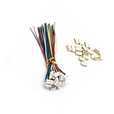 5 sets Micro JST SH 1.0mm 6-Pin Female Connector with Wire and Male Connector NE