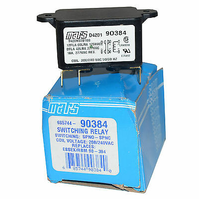 Mars 90384 Switching Relay Coil Voltages 208/240Vac--Sa