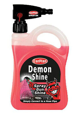 CarPlan Demon Shine Spray Gun Car Wax Cleaning Polish No Effort 2 Litre