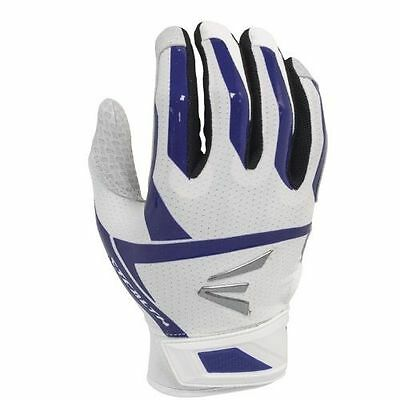 Easton Stealth Hyperskin XL White/Purple Fastpitch Batting Gloves,new