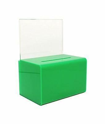 SourceOne Green Donation Box with Sign Holder and Lock - SMALL