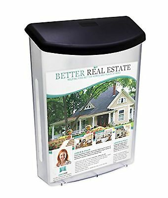 Source One Premium Large Outdoor Realtor Style Brochure Holder (S1-ODBH-BLK L...