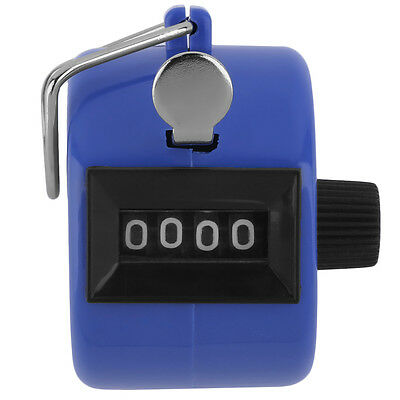 Portable Digit  Hand Held Tally Click Counter 4 Digit Number Clicker Golf Chrome