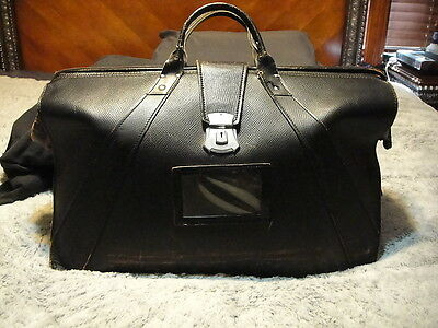 VINTAGE US Military Leather Briefcase Type IX Doctor Bag XL