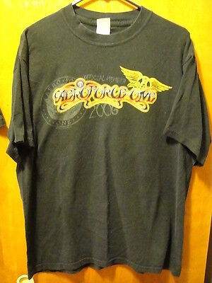 Aerosmith Aero Force One Official Member 2006 Music Concert T Shirt Black Large