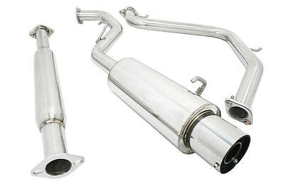 "FOR 07-11 CAMRY XV40 4CYL 5.5/""OVAL TIP MUFFLER STAINLESS STEEL CATBACK EXHAUST"
