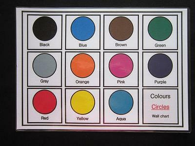 Colours Circles Cards - Education Visual Aids Autism Early Yrs SEN Memory Loss