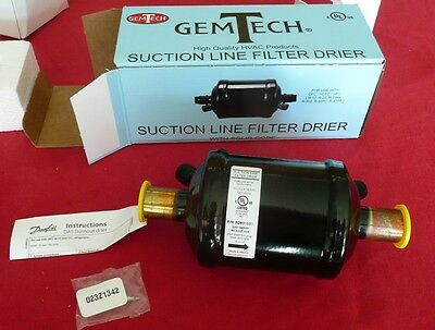 "FOUR (4) GemTech GTSLD166S - 3/4"" Suction Line Filter Driers, 16 cubic inch"