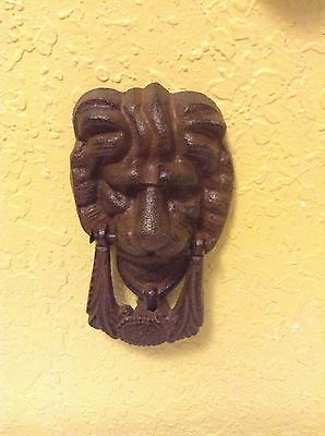 Heavy Metal Antique Cast Iron Lion Head Animal Door Knocker