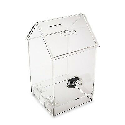 Source One Tall Penthouse Acrylic Box - Donation Box - House shape Ballot Box...