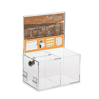 Source One Deluxe Donation Box - Collection Box - Tip Container - With Two Co...