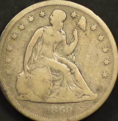 1860-O Seated Dollar Very Good Details
