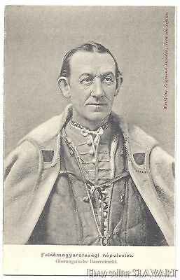 POSTCARD rare Slovak peasant man Trencin folk costume old photograph ethnic type