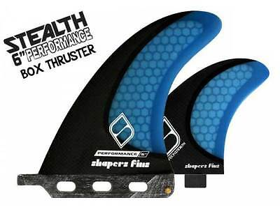 "Shapers Fins - 6"" Performance - 2+1(FCS) - Longboard - SUP - Surf"