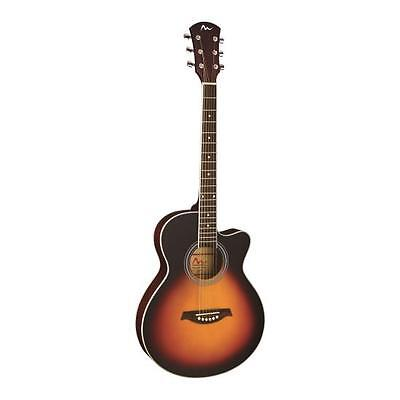New Pyle PGA36 6-String Acoustic Guitar Full Scale, Sunburst Style, Preamplifier
