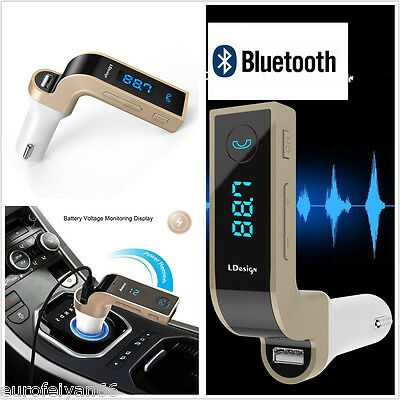 LCD Bluetooth G7 Handfree Car SUV Kit MP3 Player FM Transmitter USB Charger AUX