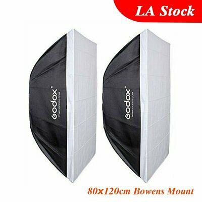 "2 Godox 32""x48"" 80x120cm Softbox Bowens Mount for Studio Strobe Light Bulb Flash"