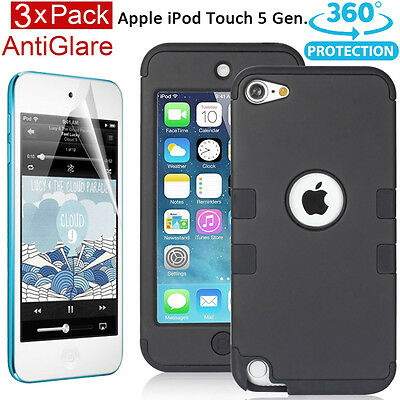 Shockproof iPod Touch 5 6 Triple Layers Hybrid Hard Soft Armor Case Cover Screen