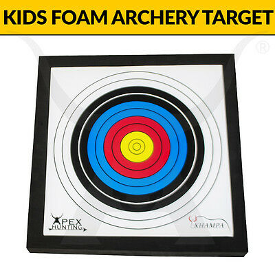 Kids Foam Archery Target - Includes 2 Target Faces - Rated to 30lbs