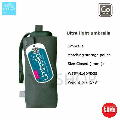 Go Travel Ultra Light Umbrella for Travellers -- Grey