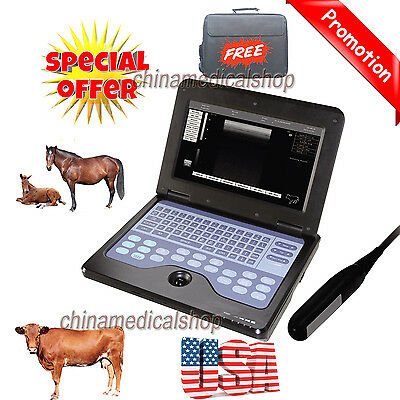 Portable Veterinary Ultrasound Scanner Machine For cow/horse/Animal rectal probe
