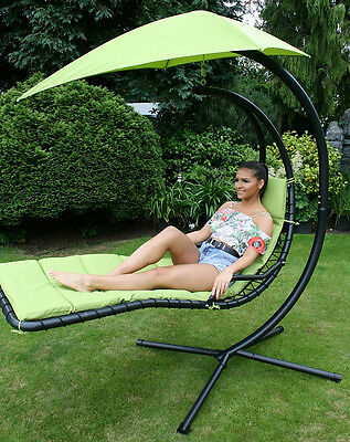 Deluxe Garden Outdoor Helicopter Dream Chair Swing Hammock Sun Lounger Seat
