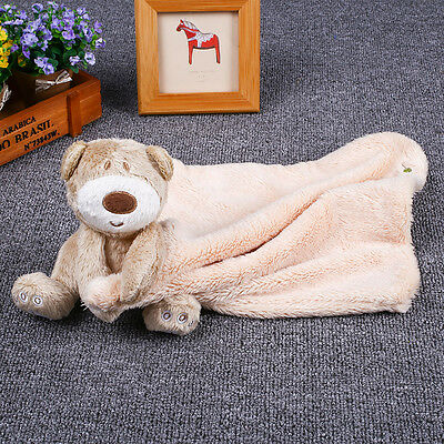 Baby Infant Grey Bear Blanket Soft Appease Towel Close Toys For Boy And Girl