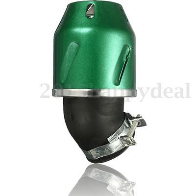 35mm green Universal Bullet Air Filter Cleaner Intake for 50cc Motorcycle bike