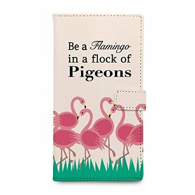 Pink Flamingo pu leather flip case for Samsung S5/S6/S7/Edge/Plus/Note 3/4/5