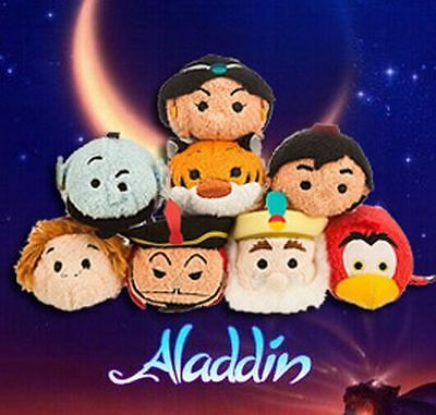 Hot Disney TSUM TSUM Aladdin Djinn Mini Soft Stuffed Dolls Plush Toys With Chain